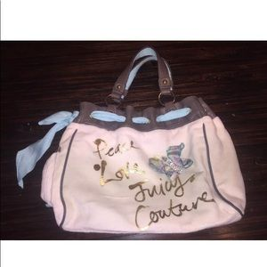 Juicy couture purse butterfly printed velour peace